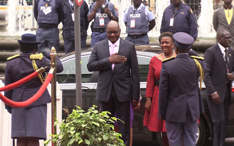 Gauteng Premier David Makhura arrives for the State of the Province Address on Monday 23 February 2015. Picture: Vumani Mkhize/EWN.