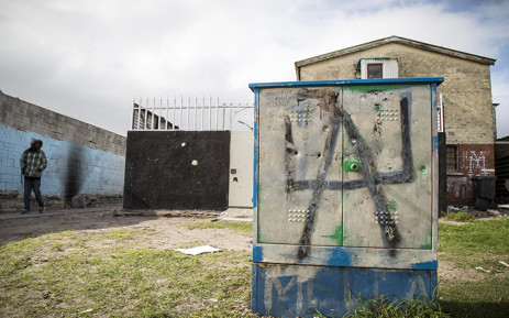 FILE: A graffiti shows UA, for Ugly Americans, a gang in Manenberg. This electricity box lies on a crossroads, a battle zone, were the Ugly Americans fight the Hard Livings. Picture: Thomas Holder/EWN