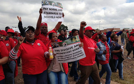 Sadtu members march in Marabastad on 24 April 2013. Picture: Lesego Ngobeni/EWN
