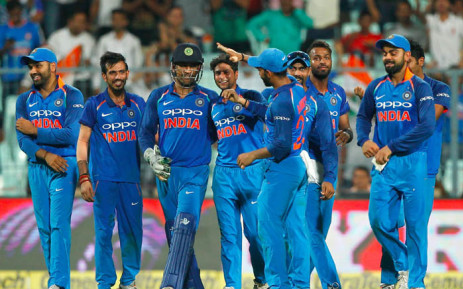 India celebrate their victory against Australia in the second one-day international at Eden Gardens. Picture: @BCCI/Twitter