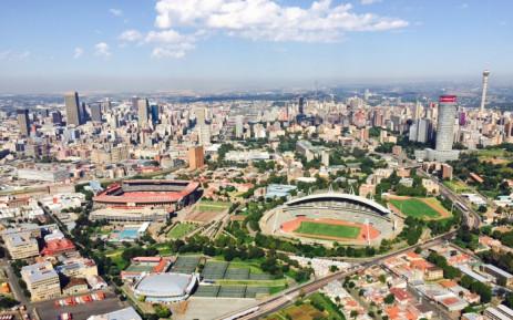 FILE: The City of Johannesburg, with Ellis Park Stadium on the left and the Johannesburg Stadium on the right. Picture: Aki Anastasiou/EWN.