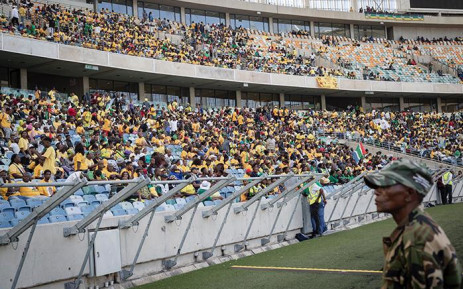 ANC supporters at the Moses Mabhida Stadium in Durban on 12 January 2019 ahead of the start of party's 107th birthday celebrations. Picture: Sethembiso Zulu/EWN