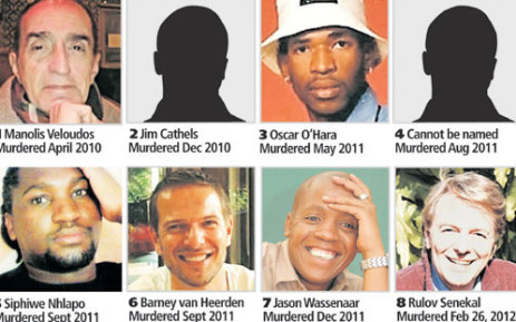 Pictures of eight men who are believed to have been killed by a group targeting gay men in Gauteng. Picture: The Star