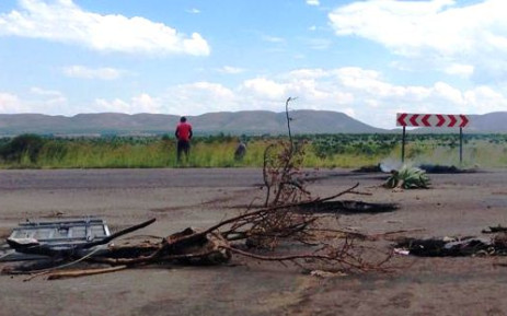 The site of a service delivery protest in Mothutlung, North West, where two protesters were shot dead, allegedly by police on 13 January 2014. Picture: Lesego Ngobeni/EWN