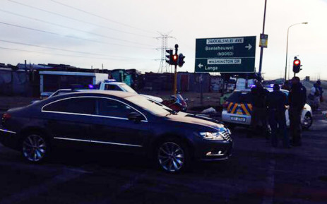 All entrances to Langa have been closed due to a violent service delivery protest. Picture: Shamiela Fisher/EWN.