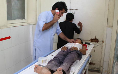FILE: An Afghan wounded boy receives treatment at a hospital following multiple explosions in Jalalabad on 11 September 2018. Picture: AFP