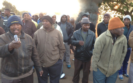 Commuters are stranded in Mamelodi as taxi drivers won't allow Autopax buses to operate in the area on 1 July 2015. Picture: Vumani Mkhize/EWN.