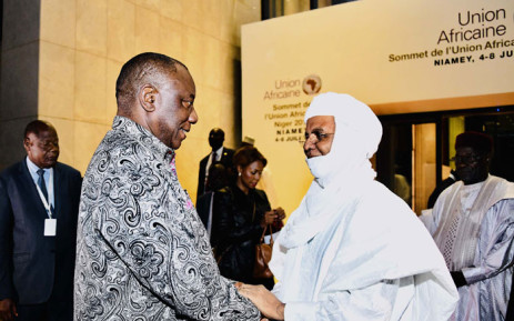 President Cyril Ramaphosa arrives in Niamey in the Republic of Niger to participate in the 12th Extraordinary Summit of the African Union (AU). Picture: GCIS.