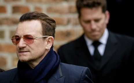 Irish singer Bono of the band U2. Picture: EPA.