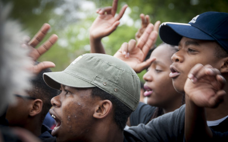 FILE: Students protest through singing and marching through the grounds Wits University after the announcement of an 8% increase in fees by Min of Higher Education Nzimande. Picture: Nina Leslie/iWitness