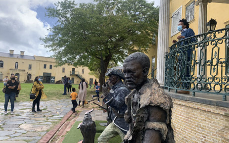 Visitors enjoy the sights and sounds of the Castle of Good Hope in Cape Town. Picture: Kaylynn Palm/Eyewitness News