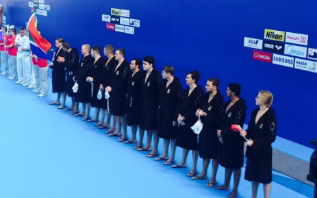 The SA Men's team won their first match of the 16th FINA World Championships in Kazan on Monday. Picture: Facebook.