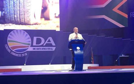 FILE: Nelson Mandela Bay Mayor Athol Trollip addressing delegates at the DA's elective congress in Tshwane. Picture: @Our_DA/Twitter.