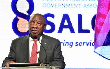 President Cyril Ramaphosa addresses South African Local Government Association National Members Assembly at Inkosi Albert Luthuli International Convention Centre, Durban. Picture: GCIS.