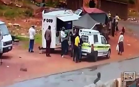 Three men caught on camera robbing two police officers of their firearms in Rabie Ridge near Midrand on Tuesday. Picture: Supplied