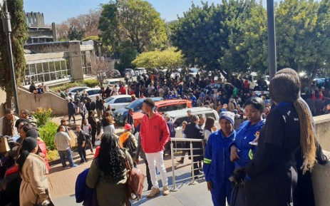 SABC Radio Park staff have been evacuated from the building following a kitchen fire. Picture: @SABCNewsOnline/Twitter