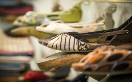 Vegan shoes on display at Grandt Mason's atelier at the Woodstock Exchange in Cape Town. Picture: Thomas Holder/EWN.