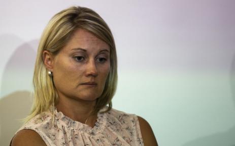 Elana Barkhuizen, the suspended teacher from Laerskool Schweizer-Reneke.  Picture: Christa Eybers/EWN