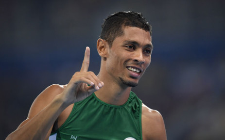 FILE: South Africa's Wayde van Niekerk celebrates winning the Men's 400m Final at the Rio 2016 Olympic Games at the Olympic Stadium in Rio de Janeiro on August 14, 2016. Picture: AFP.