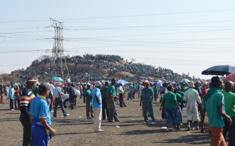 Hundreds of people gathered on the koppie to remember the miners who died in the Marikana Massacre on 16 August 2012.