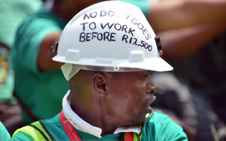 Around 70,000 Amcu members have been on strike for four months, demanding a basic salary of R12,500 per month. Picture: AFP.