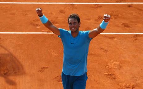 Spain's Rafael Nadal celebrates winning French Open semifinal against Argentine Juan Martin del Potro. Picture: @rolandgarros/Twitter.