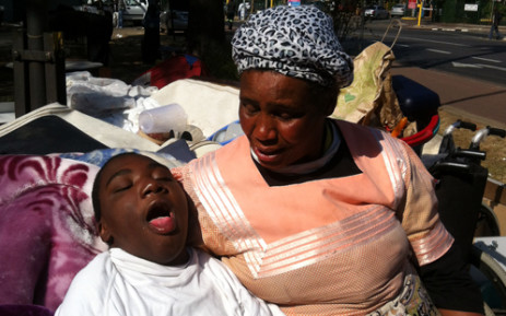 Lucia Mdluli and her son Lindokuhle are among the 2,000 tenants who were evicted from the Newtown Urban Village last week. Picture: Mia Lindeque/EWN