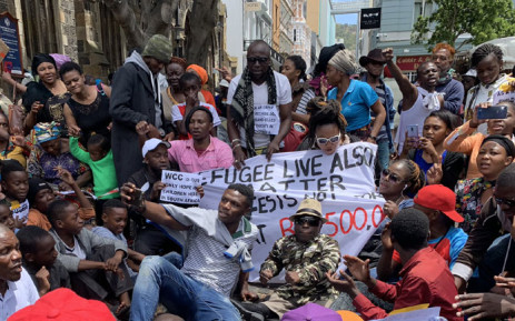 FILE: Hundreds of foreigners protest in Greenmarket Square in Cape Town on 18 December 2019. Picture: Kaylynn Palm/EWN