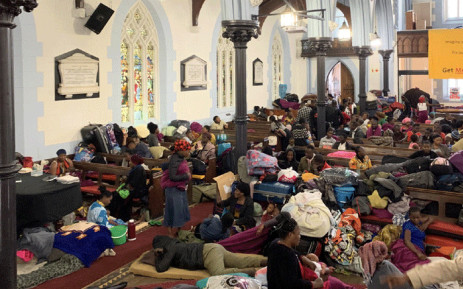 FILE: Refugees living in Cape Town spent the night at the Central Methodist Mission Church after clashes with police during their removal from the UNHCR's offices on 30 October 2019. Picture: Kayleen Morgan/EWN