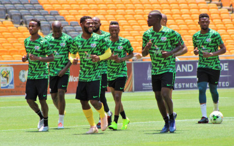 Bafana Bafana members pictured ahead of their qualifying game against Nigeria on 17 November 2018 for the 2018 Africa Cup of Nations. Picture: @BafanaBafana/Twitter