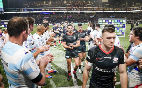 Saracens players leave the field after their European Champions Cup match against Racing 92 on 17 November 2019. Picture: @racing92/twitter