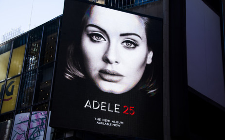 A view of a billboard for Adele's new album '25' in New York. Picture: EPA/Justin Lane.""
