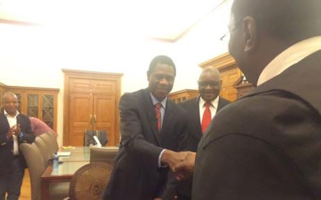 Gauteng's new Human Settlements MEC Paul Mashatile has been sworn into office. Picture: Dineo Bendile/EWN