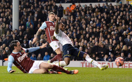 Tottenham Hotspur's English defender Danny Rose (R) scores his team's fourth goal during the English FA Cup Third Round football match replay betweenTottenham Hotspur and Burnley at White Hart Lane in London, on 14 January, 2015. Picture: AFP.