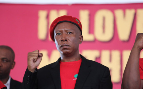 FILE: Economic Freedom Fighters (EFF) leader Julius Malema at the EFF's memorial service for Winnie Madikizela-Mandela in Brandfort on 11 April 2018. Picture: Christa Eybers/EWN