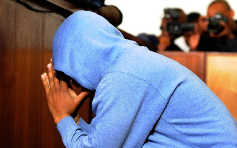 FILE: Lindray Khakhu appears in the Newlands Magistrates Court in Sophiatown on 12 August 2014 in connection with a shooting in Westbury that critically wounded Luke Tibbetts, a three-year-old boy who later died. Picture: Sapa.