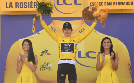 Team Sky's Geraint Thomas wins the 11th stage of the Tour de France on 18 July 2018. Picture: @LeTour/Twitter