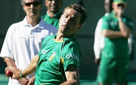 Fast bowler Dale Steyn putting in the hard yards during a Proteas net session.