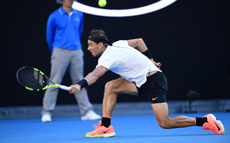 Rafa Nadal outlasted German teenager Alexander Zverev to reach the last 16 of the Australian Open. Picture: Twitter/@AustralianOpen.