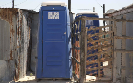 As many as twenty residents can share one chemical toilet in an informal settlement. Picture: Cindy Archillies/EWN