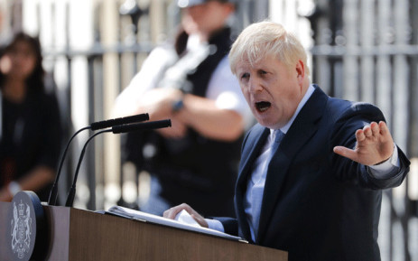 FILE: Britain's new Prime Minister Boris Johnson gives a speech outside 10 Downing Street in London on 24 July 2019 on the day he was formally appointed. Picture: AFP