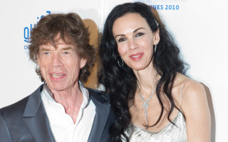 Mick Jagger and US stylist L'Wren Scott. Picture: AFP.