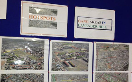 A police chart showing gang violence hotspots in Cape Town communities. Picture: Chantall Presence/EWN