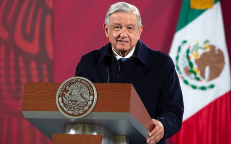 In this file handout picture taken on December 15, 2020 and released by Mexico's Presidency press office, Mexican President Andres Manuel Lopez Obrador speaks during a press conference in Mexico City. Picture: AFP