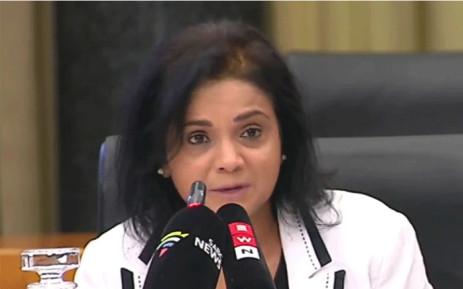A YouTube video screengrab of Advocate Shamiela Batohi.
