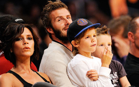 Victoria Beckham, better known as Posh Spice, with her family.