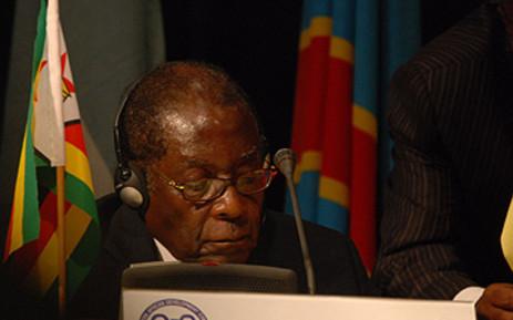 Zimbabwean president Robert Mugabe attends at SADC Summit in South Africa. Picture: Taurai Maduna/Eyewitness News