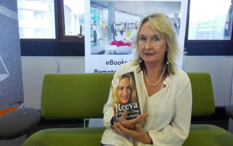 June Steenkamp promoting her book 'Reeva - A Mother's Story'. Picture: EWN.