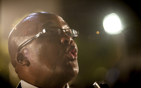 Minister of Health Aaron Motsoaledi gives his reflection on the days events. Picture: Thomas Holder/EWN
