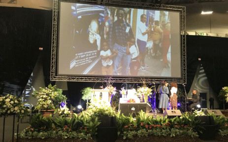 Friends, family and colleagues bid a final farewell to UCT professor Bongani Mayosi on 4 August 2018. Picture: Shamiela Fisher/EWN.